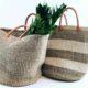handle med omsorg for miljøet med nydelig sisalnett i solid viltvoksende sisal og geiteskinn i Kenya Handlenett og piknikkurver